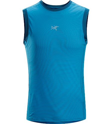 Motus Sleeveless Men's A technically designed, trim-fitting sleeveless top, designed for high output aerobic activities such as trail running.