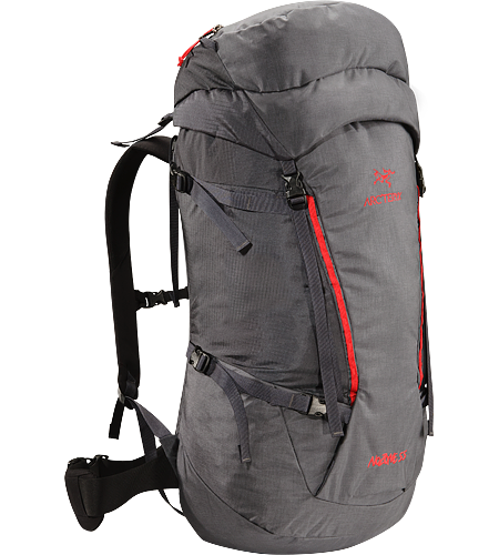 Nozone 55 Lightweight, comfortable and robust backpack constructed using super-light, technical textiles, designed for climbing specialists or expert alpine users to haul larger loads.