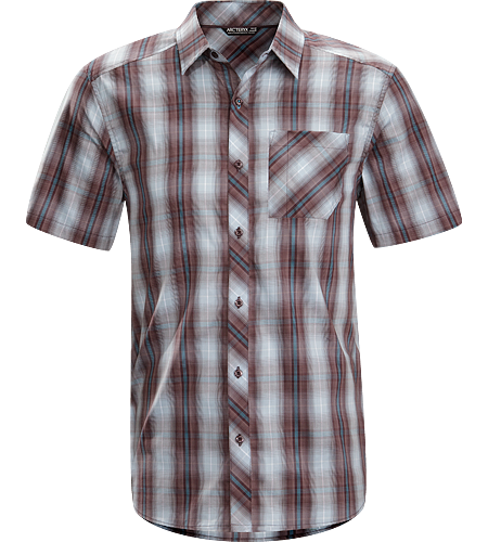 Pathline Shirt SS Men's Athletic fit, short-sleeved collared shirt made from breathable Wye™ cotton/polyester blend textile that is easy to wash and care for.