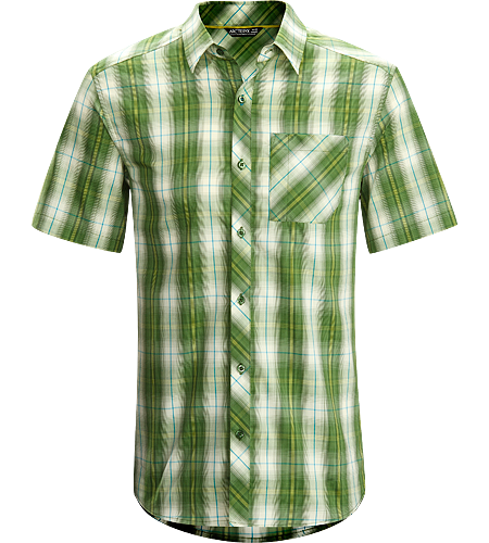 Pathline Shirt SS Men's Athletic fit, short-sleeved collared shirt made from breathable Wye cotton/polyester blend textile that is easy to wash and care for.