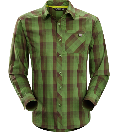 Peakline Shirt LS Men's Krpernahes, langrmeliges Shirt aus atmungsaktivem Verdi Baumwoll/Polyestermaterial mit ausgezeichnetem Feuchtigkeitsmanagement.