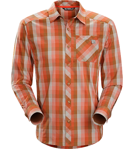 Peakline Shirt LS Men's Trim-fitting, long-sleeved shirt made from breathable, moisture-wicking Verdi™ Cotton/Polyester blend textile.