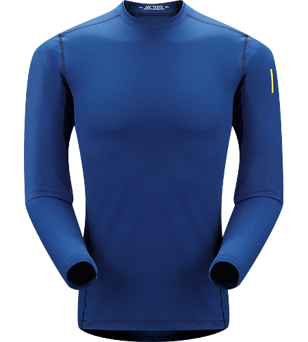 Phase AR Crew LS Men's Newly redesigned with enhanced textile and composite construction. Lightly-insulated, moisture-wicking, base layer, designed for aerobic use during cooler conditions.