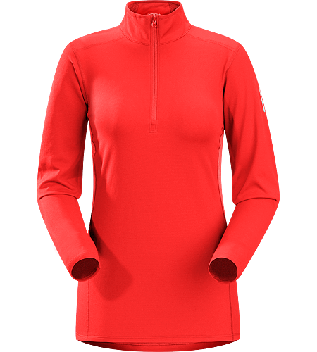 Phase AR Zip Neck LS Women's Newly redesigned with enhanced textile and composite construction. Lightly insulated, zip-neck base layer, designed for use during aerobic activities in cooler conditions.