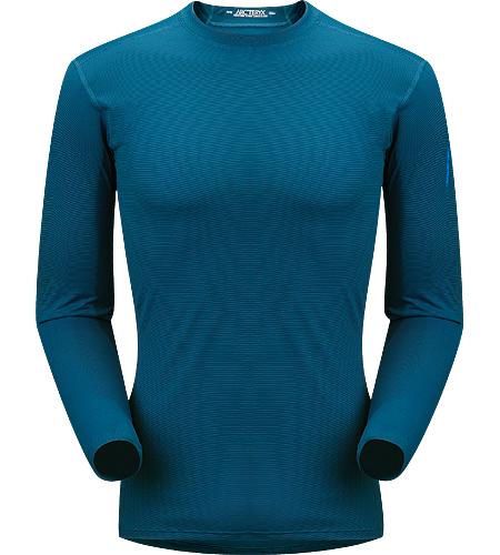Phase SL Crew LS Men's Newly redesigned with enhanced textile and composite construction. Moisture-wicking base-layer, constructed using odour-control fabric; Ideal as lightweight insulation layer during aerobic activities