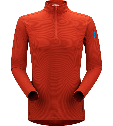 Phase SL Zip Neck LS Men's Newly redesigned with enhanced textile. Moisture-wicking base-layer with zip neck, constructed using odour-control fabric; Ideal as lightweight insulation layer during aerobic activities