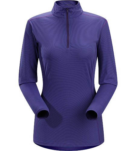 Phase SL Zip Neck LS Women's Newly redesigned with enhanced textile. Moisture-wicking base-layer with zip neck, constructed using odour-control fabric; Ideal as lightweight insulation layer during aerobic activities