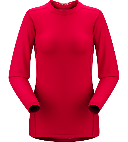 Phase SV Crew LS Women's Newly redesigned with enhanced textile and composite construction. Moisture-wicking base-layer, constructed using odour-control fabric; Ideal as mid-level insulation during aerobic activities