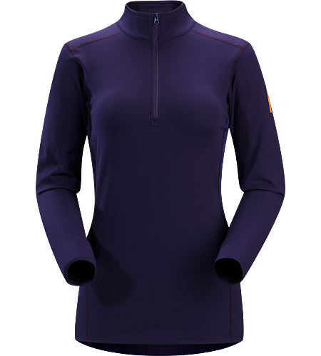 Phase SV Zip Neck LS Women's Newly redesigned with enhanced textile and composite construction. Moisture-wicking base layer, constructed using odour-control fabric; Ideal as mid-level insulation during stop-and-go activities.