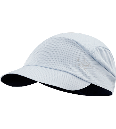 Poco Cap Lightest weight mesh running cap with reflective blaze and logo. Phasic SL headband manages moisture.