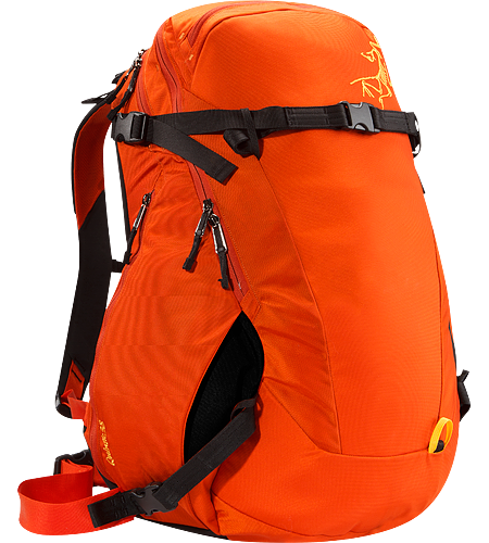 Quintic 38 Comfortable, robust backpack with contoured back panel and ski/snowboard wrap system; Ideal for backcountry day tours