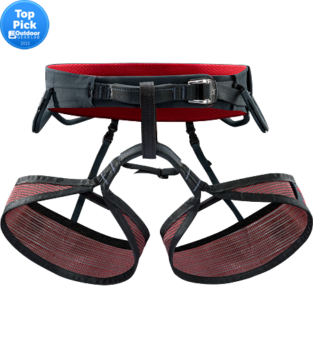 R275 LT Men's Lightweight, breathable rock climbing harness constructed using Warp Strength Technology and Vapor mesh for added climbing comfort in warm weather