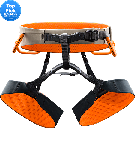 R300 Men's Functional, lightweight rock climbing harness, with a wider swami belt constructed with Warp Strength Technology and conical-shaped leg loops for ultimate comfort