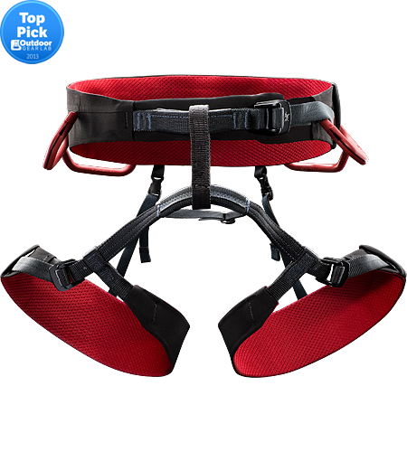R320a Men's Fully adjustable, all around Rock climbing harness constructed with a wider Warp Strength Technology swami for ultimate comfort.