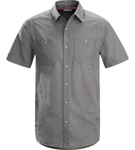 Ravelin Shirt SS Men's Short sleeved, linen/cotton blend shirt designed as a natural alternative for warm weather comfort