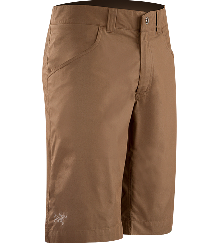 Renegade Long Men's Lightweight canvas travel shorts designed with subtle articulation for increased freedom of movement