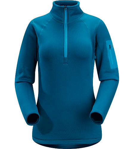 Rho AR Zip Neck Women's Breathable, moisture-wicking, insulated jersey with collar zip to aid with temperature regulation