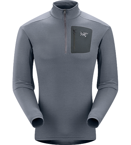 Rho LTW Zip Neck Men's MAPP Merino wool, insulated, base-layer jersey.
