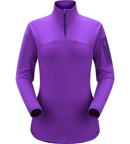 Rho LTW Zip Neck Women's MAPP Merino wool, insulated, base-layer jersey.