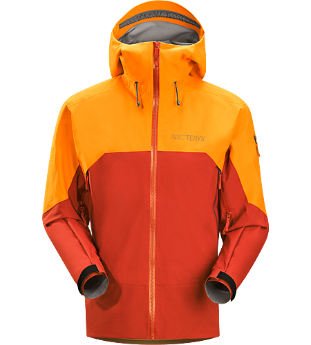 Rush Jacket Men's Waterproof, breathable and durable jacket designed for big mountain adventures and on/off piste skiing and riding. Anatomically patterned for easy layering and enhanced mobility out on the slopes.