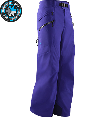 Sabre Pant Men's Built for riders/skiers, a lightly insulated, waterproof, GORE-TEX® pant with a Slide 'n Loc snap system to attach the jacket to pants, constructed using enhanced GORE-TEX® Pro fabric with a softer face.