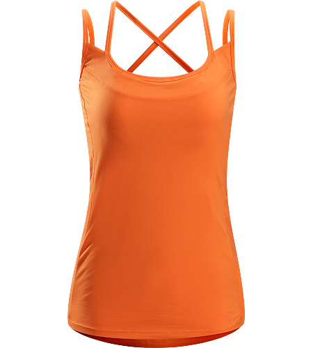 Senna Tank Women's Trim fit tank top with comfort straps and a built-in shelf bra