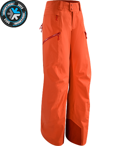 Sentinel Pant Women's Newly redesigned with a Slide n' Loc snap system. Waterproof, women-specific GORE-TEX pants, designed for riders/skiers.