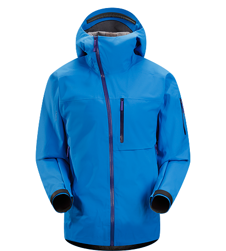 Sidewinder Jacket Men's Newly redesigned with enhanced GORE-TEX® fabric with a softer face and Slide 'n Loc snap system. Tough waterproof hardshell jacket with Storm Hood. Sidewinder front zipper curves away from your face.