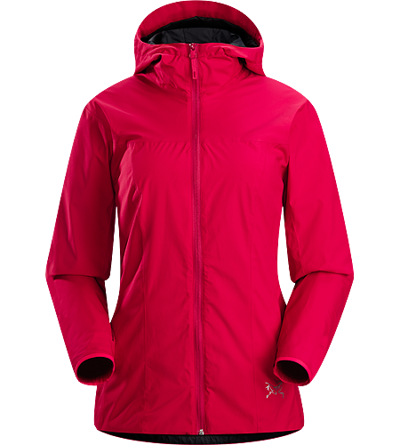 Solano Jacket Women's Newly redesigned with adjustable hood and additional length. A lightweight and breathable, lined WINDSTOPPER hooded jacket with articulated patterning for active use.