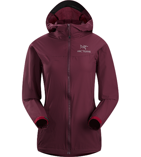 Squamish Hoody Women's Super lightweight, durable and compressible hooded jacket; Ideal as a wind resistant layer for warm weather activities