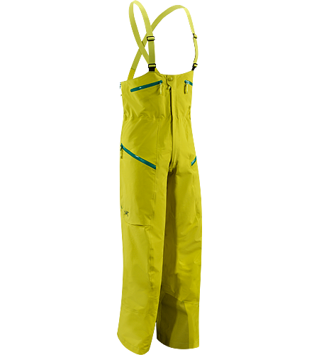 Stinger Bib Men's Newly redesigned with a higher bib, large volume thigh pockets, and an enhanced fit. Durable and waterproof bib pant, patterned for gender specific articulation.