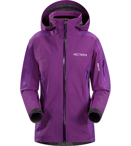 Stingray Jacket Women's Lightly insulated, waterproof GORE-TEX Soft Shell jacket designed for use on the ski hill.
