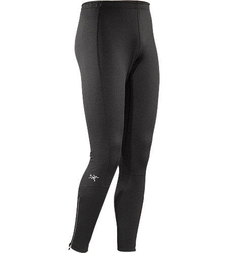 Stride Tight Men's Stretchy, go-anywhere tights constructed with warm, jersey knit Altasaris textile. Ideal for high-output activities in cold weather such as winter running and cross country skiing