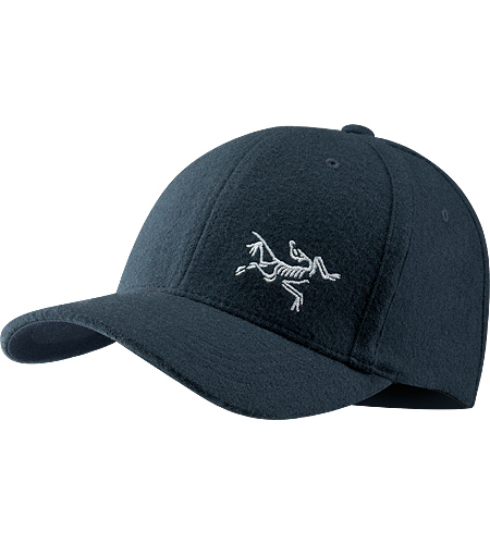 Wool Bird Cap Men's A low-profile cap with small embroidered bird logo on the front.