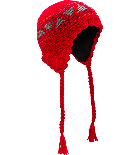 Zoe Toque Women's Women-specific toque with braided ties and earflaps.