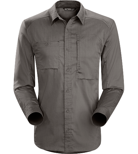 A2B Shirt LS Men's Relaxed fit, button down, cotton/polyester, long sleeved shirt for everyday living and urban commutes.