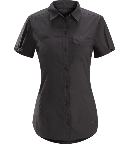 A2B Shirt SS Women's Breathable, lightweight, cotton blend, short sleeved shirt for everyday living and urban commuting