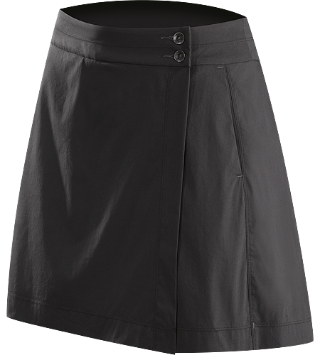 A2B Skort Women's Practical cotton blend wrap skort (skirt/short) with a built-in short for windy commutes, urban cycling, and daily wear.