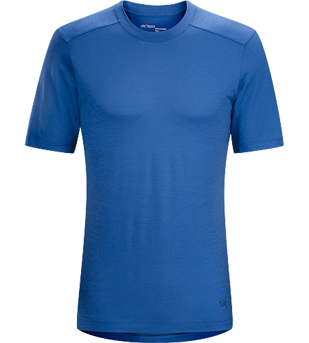 A2B T-Shirt Men's Natural fibre wool/polyester blend crew neck T-shirt.