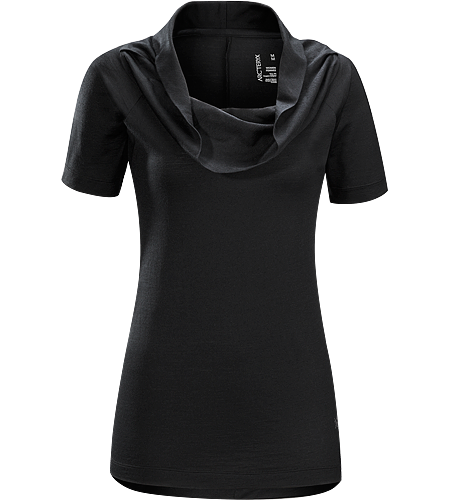 A2B Top Women's Trim fitting, longer length top with a scooped, gathered neckline and a slimming silhouette; ideal for everyday living and urban commuting.