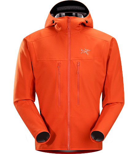 Acto MX Hoody Men's Acto Series: Mid layer with abrasion resistant exterior | MX: Mixed Weather. Highly breathable, air permeable, mid layer hooded hardfleece jacket that provides bulk-free warmth for all day activity