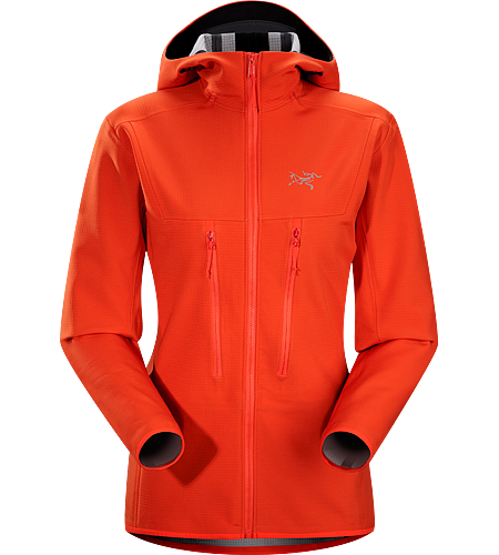 Acto MX Hoody Women's Acto Series: Mid layer with abrasion resistant exterior | MX: Mixed Weather. Highly breathable, air permeable, mid layer hooded hardfleece jacket that provides bulk-free warmth for all day activity