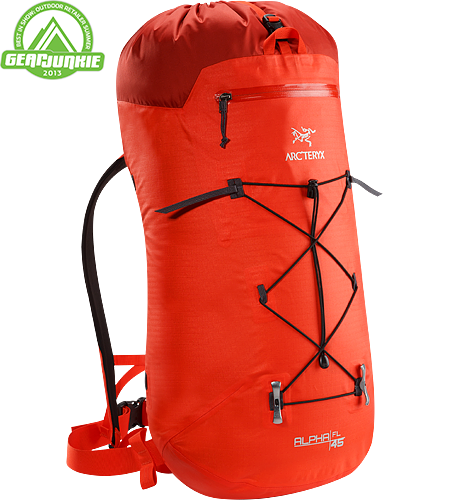 Alpha FL 45 Alpha Series: Climbing and alpine focused systems | FL: Fast and Light. Ultralight and highly weather resistant 45 litre climbing pack suited to fast and light alpine, ice, rock and ski mountaineering routes.