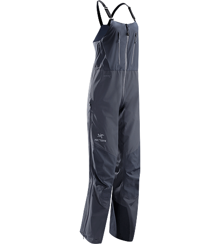 Alpha SV Bib CZ Women's Alpha Series: Climbing and alpine focused systems | SV: Severe Weather. Waterproof/breathable GORE-TEX® Pro shell bib pant for severe conditions has high back, exceptionally durable N80p-X face fabric and large storage pockets.