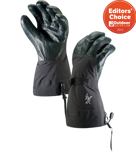 Alpha SV Glove Men's <div class='outdoormbdata'><strong>Alpha Series: Climbing and alpine focused systems | SV: Severe Weather. </strong>Anatomically superior, advanced waterproof GORE-TEX® glove, engineered using our new Tri-Dex™ Technology; Ideal for use in the backcountry.</div><div class='leafmbdata'>An outer shell of GORE-TEX® is waterproof, windproof and breathable; the inner liner provides quick drying fleece warmth.</div>