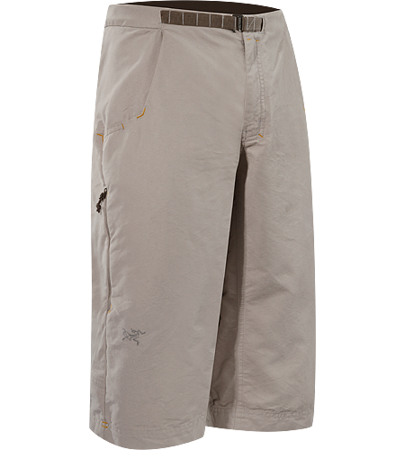 Aristo Long Men's Durable, hard-wearing cotton/nylon canvas, below-the-knee shorts with integrated, adjustable belt