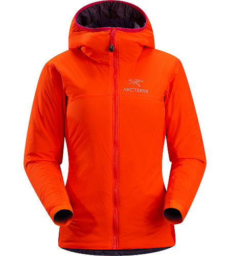 Atom LT Hoody Women's Atom Series: Synthetic insulated mid layers | LT: Lightweight. Lightweight, breathable, insulated hoody; Ideal as a stand-alone piece in fair weather, or as a layering piece in cold conditions