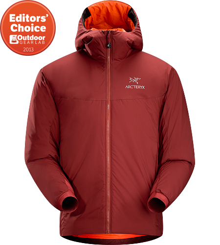 Atom SV Hoody Men's Atom Series: Synthetic insulated mid layers | SV: Severe Weather. Warm insulated Coreloft™ jacket with an insulated hood; Ideal for use as a super-warm mid-layer in cold conditions, or as a stand-alone piece in warmer conditions.