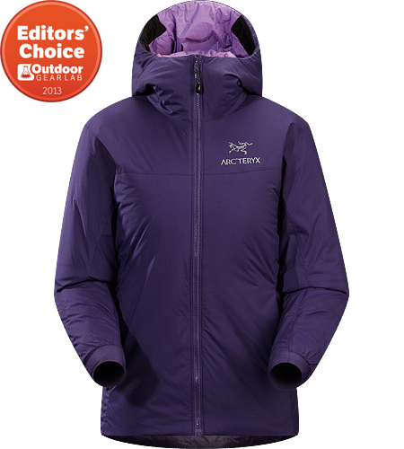 Atom SV Hoody Women's <strong>Atom Series: Synthetic insulated mid layers | SV: Severe Weather. </strong>Warm insulated Coreloft™ jacket with an insulated hood; Ideal for use as a super-warm mid-layer in cold conditions, or as a stand-alone piece in warmer conditions.