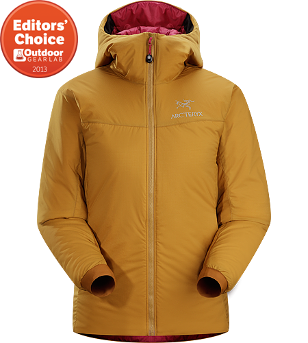 Atom SV Hoody Women's Atom Series: Synthetic insulated mid layers | SV: Severe Weather. Warm insulated Coreloft™ jacket with an insulated hood; Ideal for use as a super-warm mid-layer in cold conditions, or as a stand-alone piece in warmer conditions.